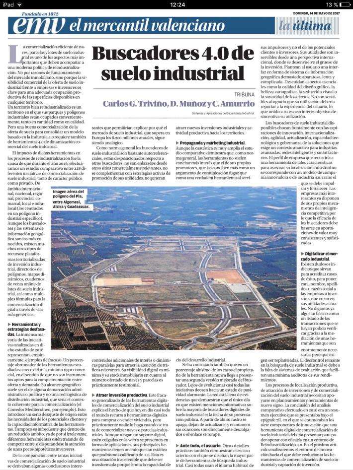 Buscadores 4.0 de suelo industrial.