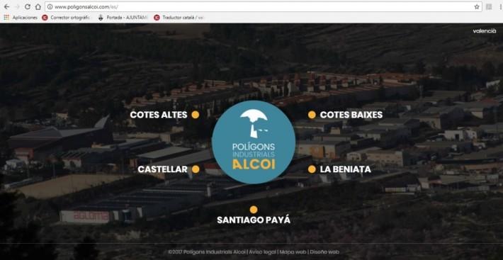 L'Alcoià. El Ayuntamiento de Alcoi crea una web a medida para dar a conocer los polígonos.