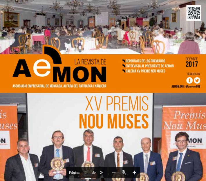 Edició desembre 2017 de la revista de AEMON