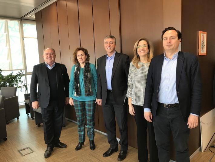 Reunión de FEPEVAL con el Conseller Rafael Climent y la directora general del IVACE Júlia Company.