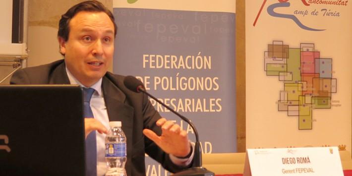 """Diego Romá: """"La aprobación de la nueva Ley de Áreas Industriales generará servicios de valor añadido y potenciará la competitividad de las empresas"""""""